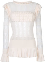 Temperley London Cypre pointelle frill Ttp - women - Rayon - XS