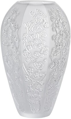 Lalique Large Crystal Sakura Vase (17.5cm)