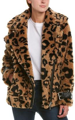 AVEC LES FILLES Teddy Biker Coat