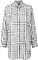 Woolrich oversized checked shirt - women - Cotton - XS