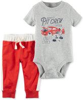 Carter's 2-Pc. Daddy's Pit Crew Bodysuit & Pants Set, Baby Boys (0-24 months)