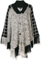 Etro knitted fringe cape - women - Silk/Acrylic/Polyamide/Wool - S