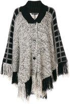 Etro knitted fringe cape
