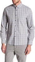 Kenneth Cole New York Long Sleeve Slim Fit Multicolor Plaid Shirt