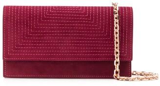 Casadei Stitching Detail Wallet On Chain