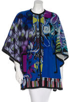 Etro Abstract Patterned Wool Cape