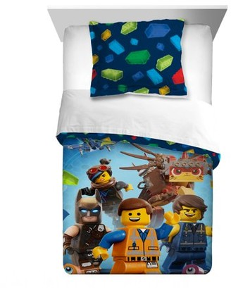 Lego The Movie 2 Kids Bedding, 2Pc Comforter and Sham Set, Twin/Full, Lets Build Together