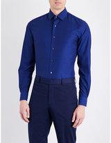 Duchamp Mini Jacquard Tailored-fit Cotton Shirt
