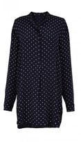 Tibi Diffusion Polka Dot Easy Shirt