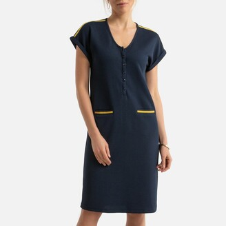 Anne Weyburn Knee-Length Shift Dress with Short Sleeves