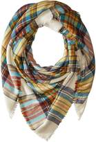 Steve Madden Classic Plaid Square Scarf Scarves