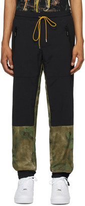 Rhude Black and Green Flight Lounge Pants