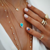 Logan Hollowell - New! Wilderness Trillion Turquoise Necklace With Diamonds