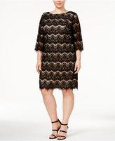 Jessica Howard Plus Size Lace Illusion Sheath Dress