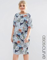 Asos Wiggle Dress in Wallpaper Floral Print