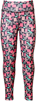John Lewis Girls' Geo Sport Leggings, Bright Pink