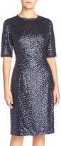 Eliza J Sequin Panel Sheath Dress