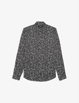 The Kooples Whirl-print woven shirt