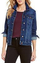 Joe's Jeans Vidika Point Collar Button Front Denim Jacket