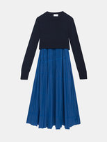 DKNY Pure Knit Overlay Dress With Pleated Skirt