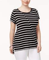 Belldini Plus Size High-Low T-Shirt
