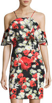Alexia Admor Daisy-Print Cold-Shoulder Sheath Dress