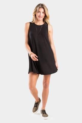 francesca's Ivie Ladder Trim Dress - Black