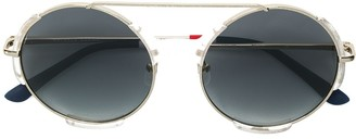 Orlebar Brown x Linda Farrow round-frame sunglasses