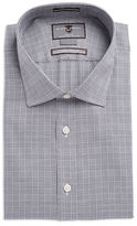Black Brown 1826 Plaid Check Dress Shirt