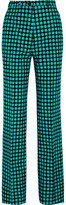 Bottega Veneta Polka-Dot Wool Wide-Leg Pants