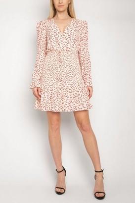 Linzi Gini London Gini London Off White Heart Print Tiered Dress