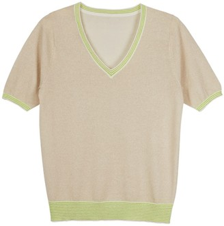 Cove Lily Gold Lurex Tee