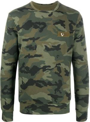 True Religion Camouflage Print Sweatshirt
