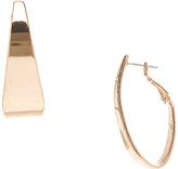 Carole Goldtone Asymmetrical Hoop Earrings