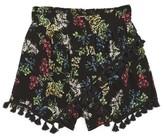 Ella Moss Girl's Allison Tassel Trim Shorts