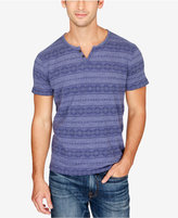 Lucky Brand Men's Geo-Stripe Split-Neck Cotton T-Shirt
