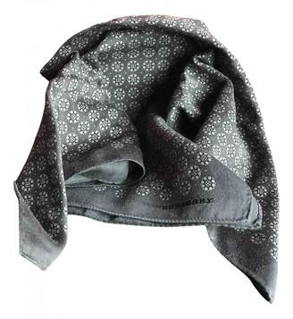 Burberry Grey Silk Scarves & pocket squares