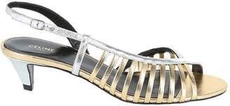 Celine Sharp Two-Tone Strappy Sandals