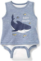 """Old Navy """"Buddy System!"""" Graphic 2-in-1 Bodysuit for Baby"""