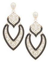 Natasha Handset Crystal Statement Drop Earrings