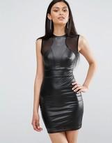 TFNC Laser Cut Dress With Mesh Detail