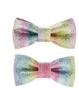 Forever 21 FOREVER 21+ Glitter Bow Clip Set