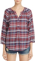 Joie Selma Plaid Top