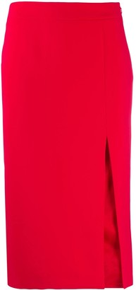 Moschino Front Slit Midi Skirt