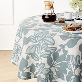 "Crate & Barrel Adeline Linen 60"" Round Tablecloth"