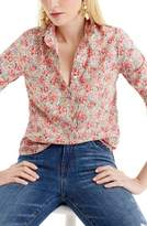 J.Crew J. CREW Classic Popover Blouse in Liberty(R) Swirling Petal Print