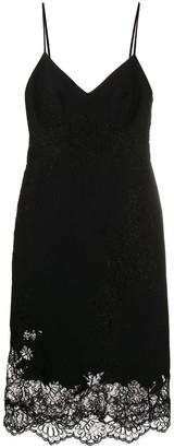 Ermanno Scervino Lace Overlay Slip Dress