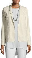 Eileen Fisher Polished Ramie Stretch Jacket, Bone