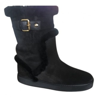 Louis Vuitton Black Shearling Ankle boots