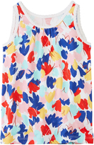 Hanna Andersson Red & Blue Abstract Very Güd Pima Tank